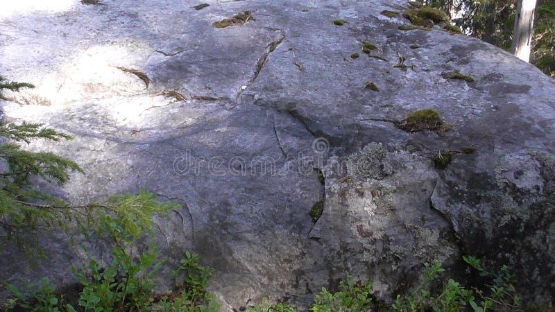 Vottovaara Karelia - översikten av ögat på stenen royaltyfria foton