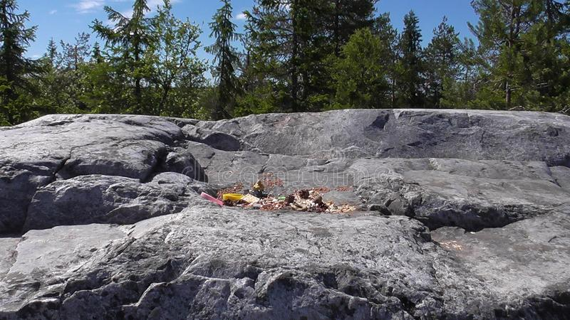 Vottovaara Karelia - gifts for the spirits. Abnormal mountain in Karelia, ugly trees, mystical landscapes. There are more than one and a half thousand stone stock images