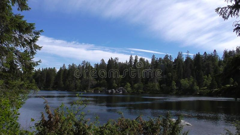 Vottovaara Karelia - lake on top of the mountain. Abnormal mountain in Karelia, ugly trees, mystical landscapes. There are more than one and a half thousand royalty free stock photography