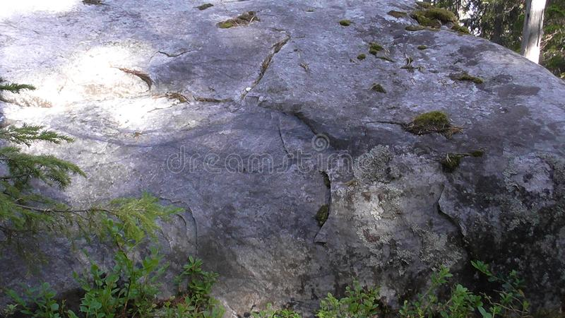 Vottovaara Karelia - The outline of the eye on the stone. Abnormal mountain in Karelia, ugly trees, mystical landscapes. There are more than one and a half royalty free stock photos