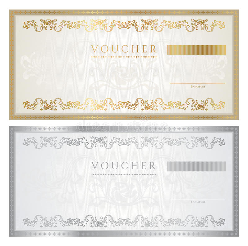 Voucher / coupon. Voucher template. This design can be usable for voucher, coupon or different awards. Vector illustration EPS 8