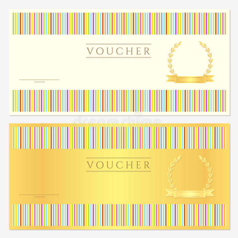Voucher / coupon / gift. Voucher template. This design can be usable for voucher/ coupon / gift or different awards. Vector illustration. EPS 8