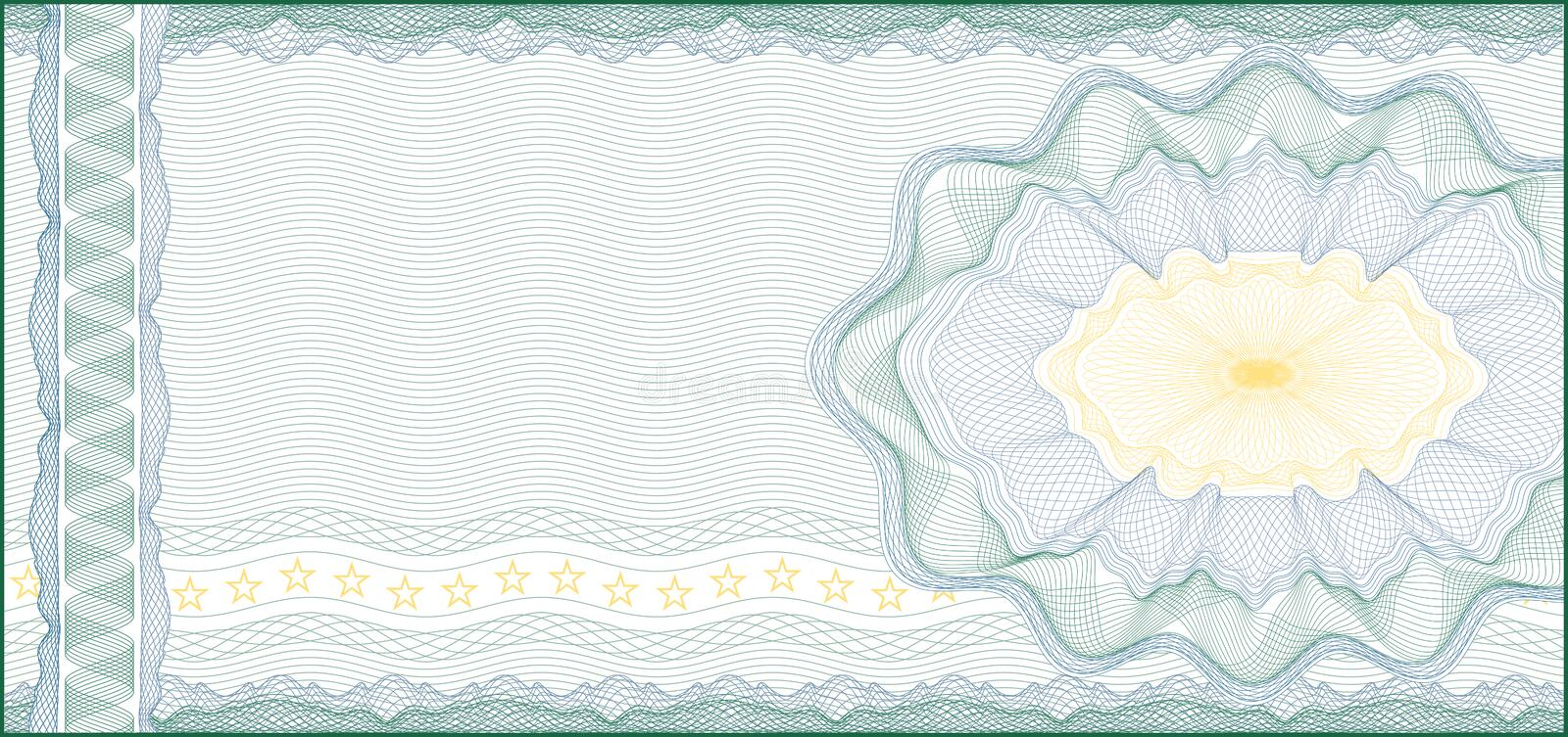 For Voucher, Gift Certificate, Coupon or Banknote. Guilloche Background for Voucher, Gift Certificate, Coupon or Banknote / layers are included for easy editing