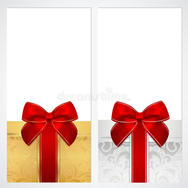 Free Voucher, Gift Certificate, Coupon Template. Box Royalty Free Stock Image - 32773166