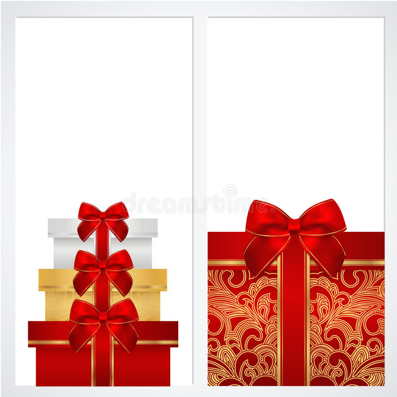 Voucher, Gift certificate, Coupon template. Box stock images