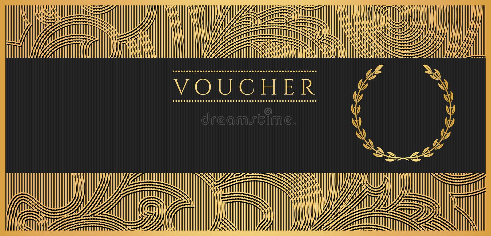 Voucher, Gift Certificate, Coupon Template. Scroll Stock ...