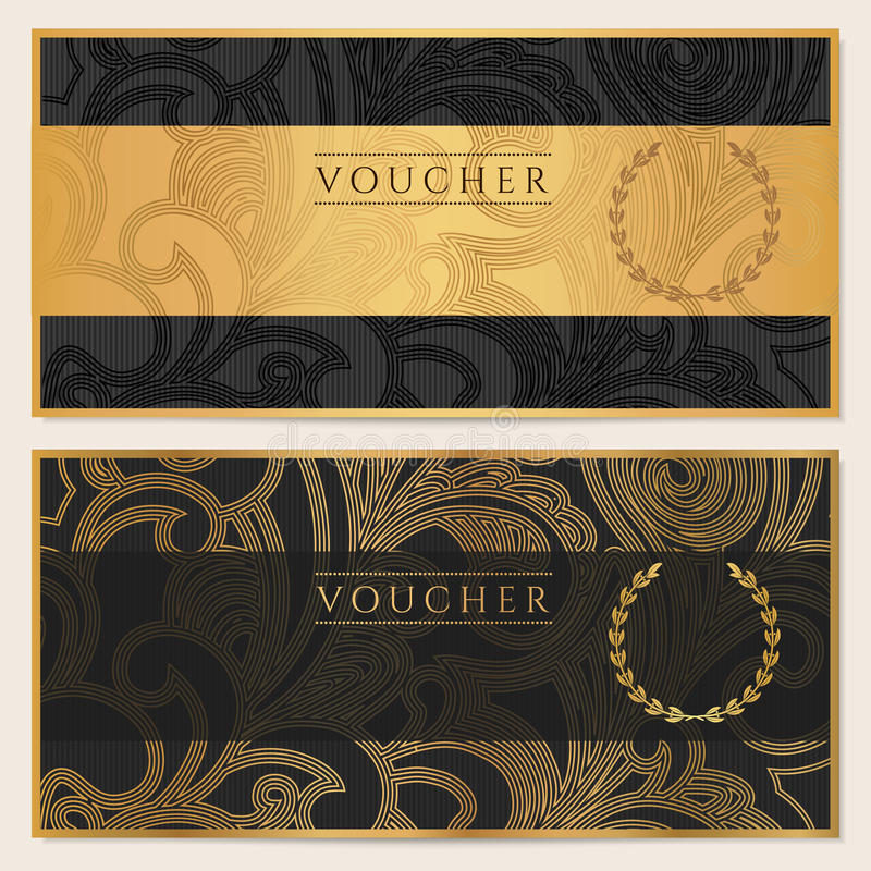 Free Voucher, Gift Certificate, Coupon, Ticket. Pattern Stock Photos - 34060543