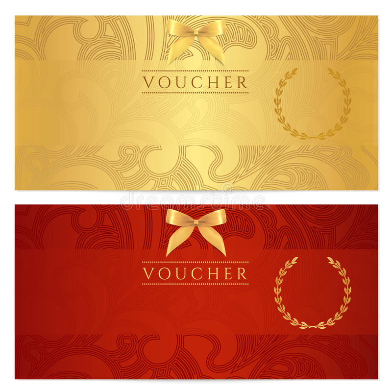 Voucher, Gift certificate, Coupon, ticket. Pattern royalty free stock image