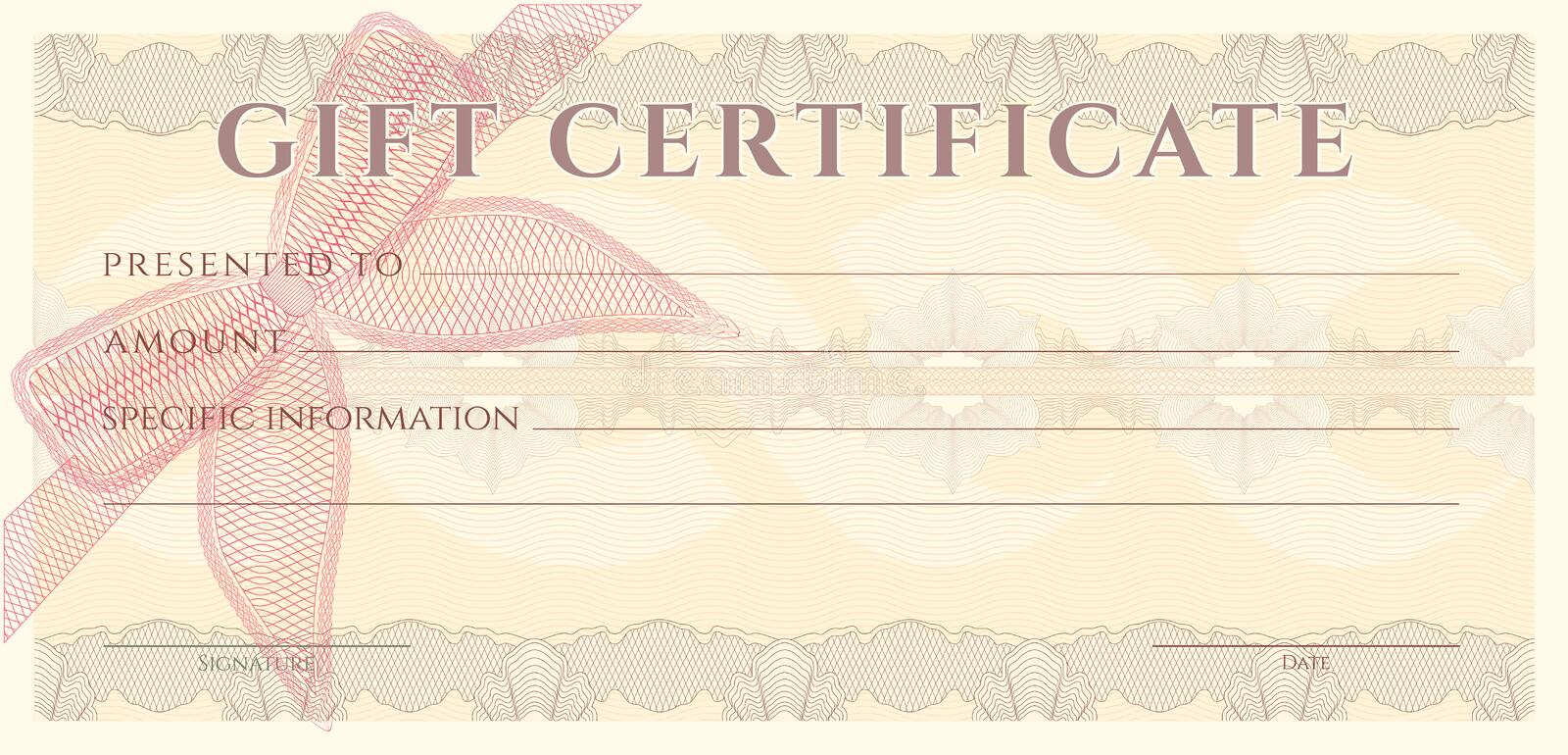 Voucher gift certificate coupon ticket template for Cheque voucher template