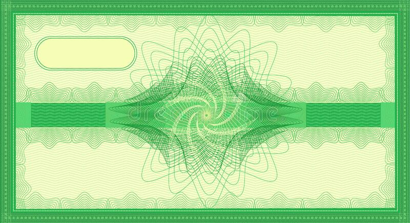 Voucher like a five hundred euro gift banknote green color blank stock image
