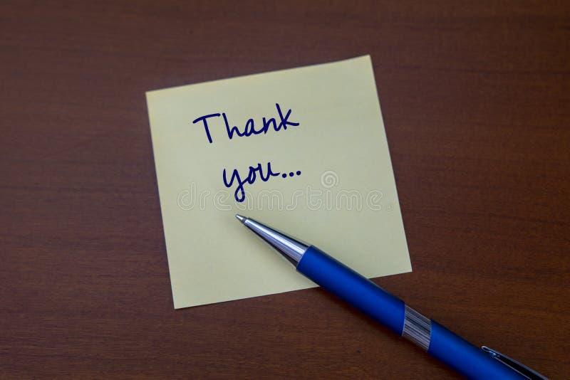 Vous écrivant à un remerciement pour noter photos libres de droits