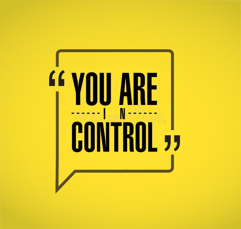 vous êtes alignée en concept contrôle de message de citation illustration libre de droits