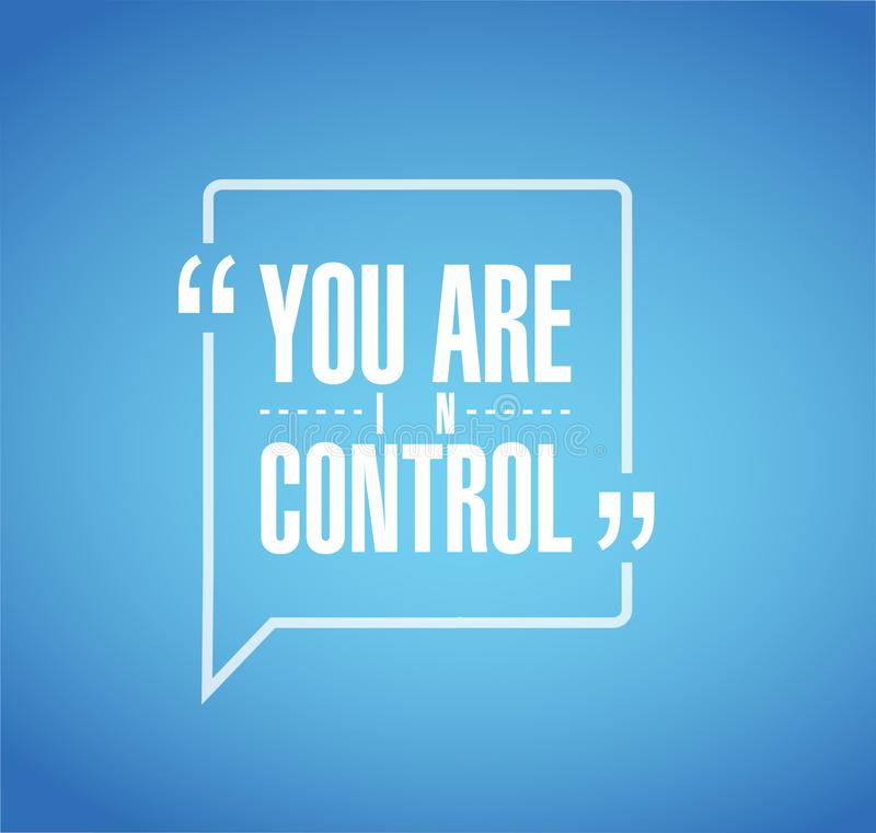 vous êtes alignée en concept contrôle de message de citation illustration stock