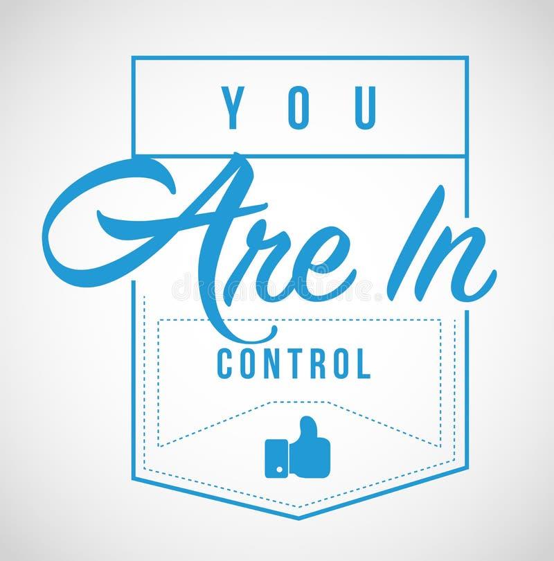 vous êtes dans la conception de message moderne de timbre de contrôle illustration de vecteur