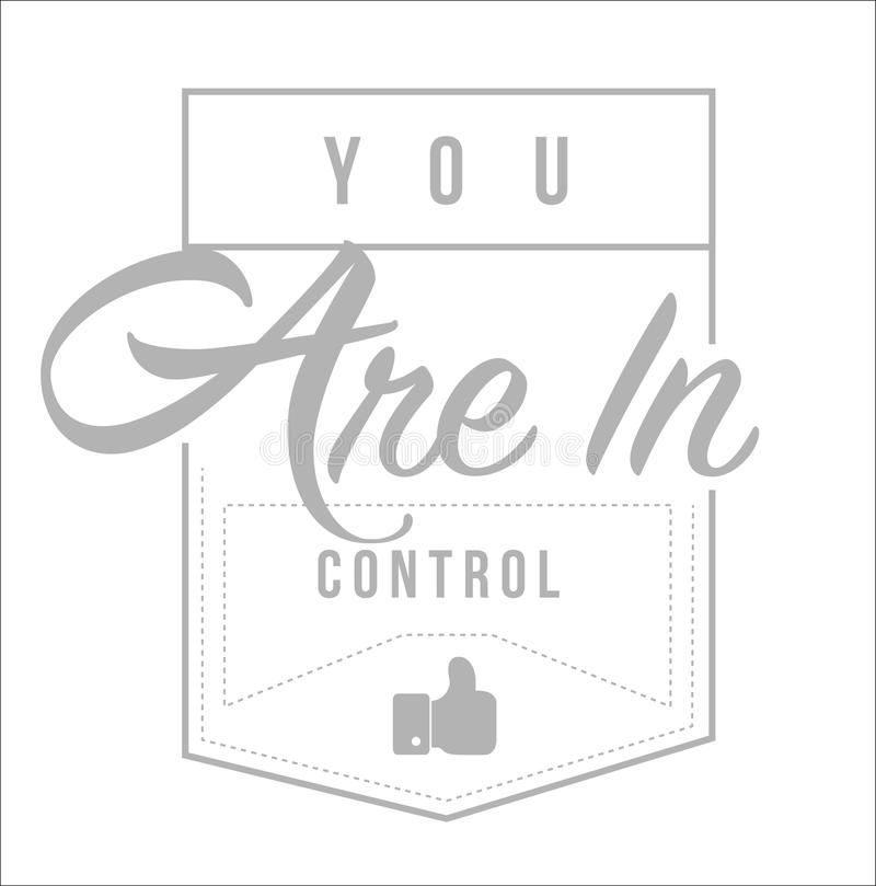 vous êtes dans la conception de message moderne de timbre de contrôle illustration stock