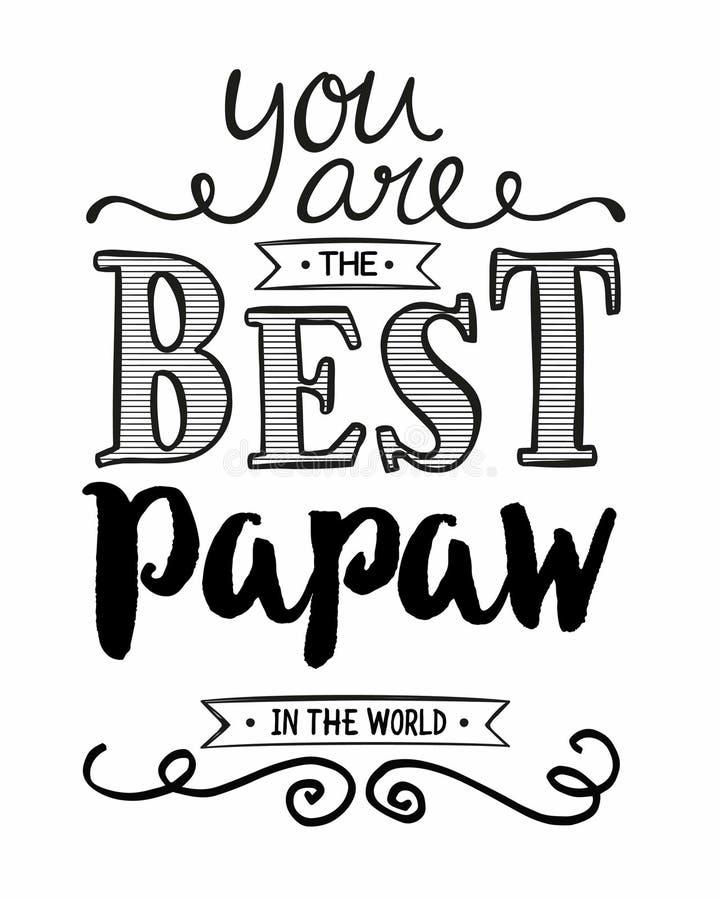 Vous êtes la meilleure papaye au monde illustration libre de droits