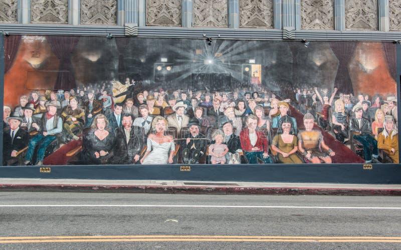 Vous êtes la peinture murale Hollywood d'étoile image stock
