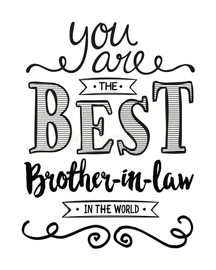 Vous êtes le meilleur beau-frère au monde illustration de vecteur