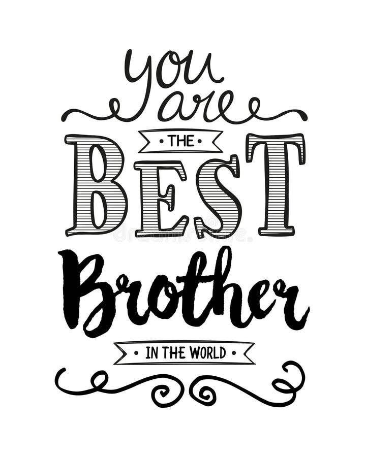 Vous êtes le meilleur frère au monde illustration de vecteur