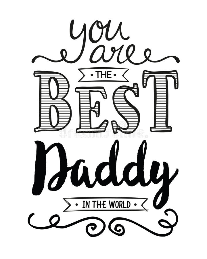 Vous êtes le meilleur papa au monde illustration stock