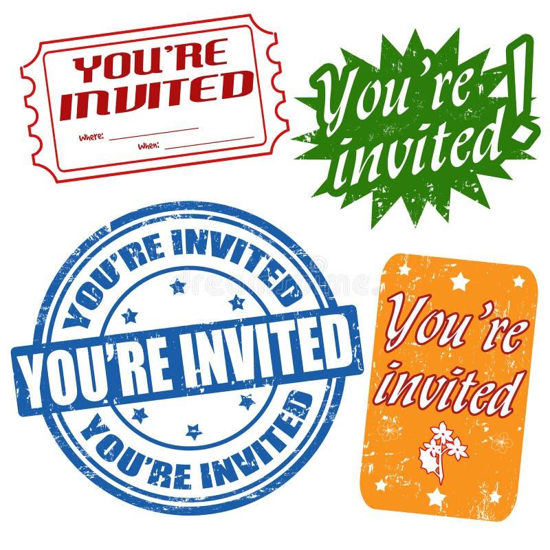Vous êtes les timbres invités illustration de vecteur