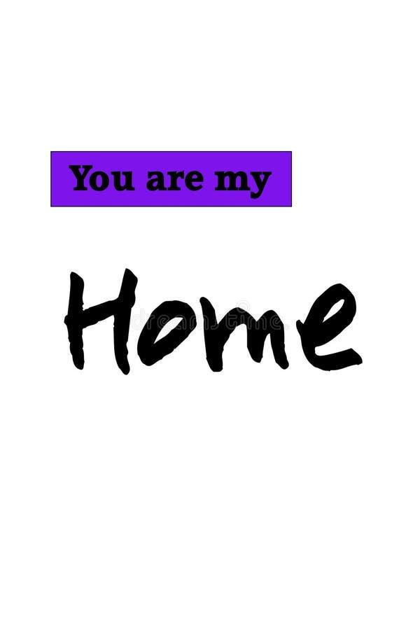 Vous êtes ma maison illustration libre de droits
