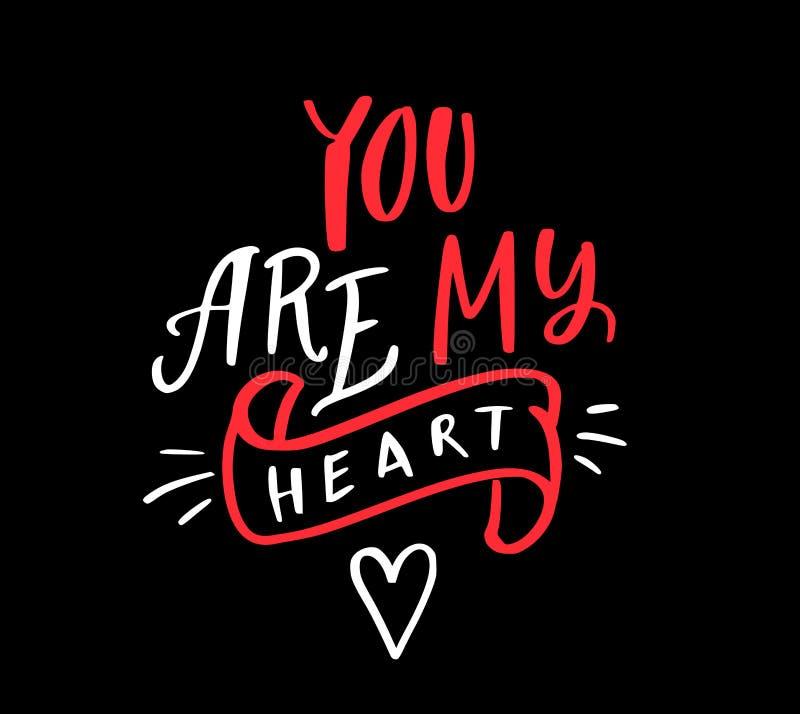 Vous êtes mon coeur photo libre de droits