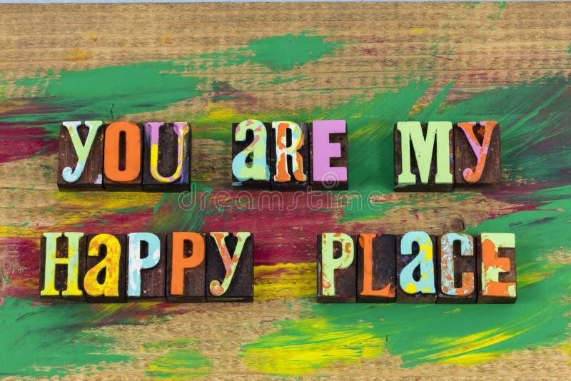 Vous êtes mon endroit heureux image libre de droits
