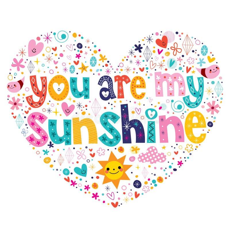 Vous êtes mon soleil illustration de vecteur