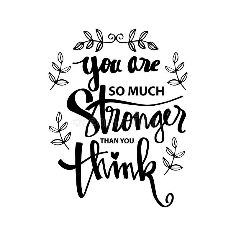 Vous êtes plus fort que vous pensez illustration de vecteur