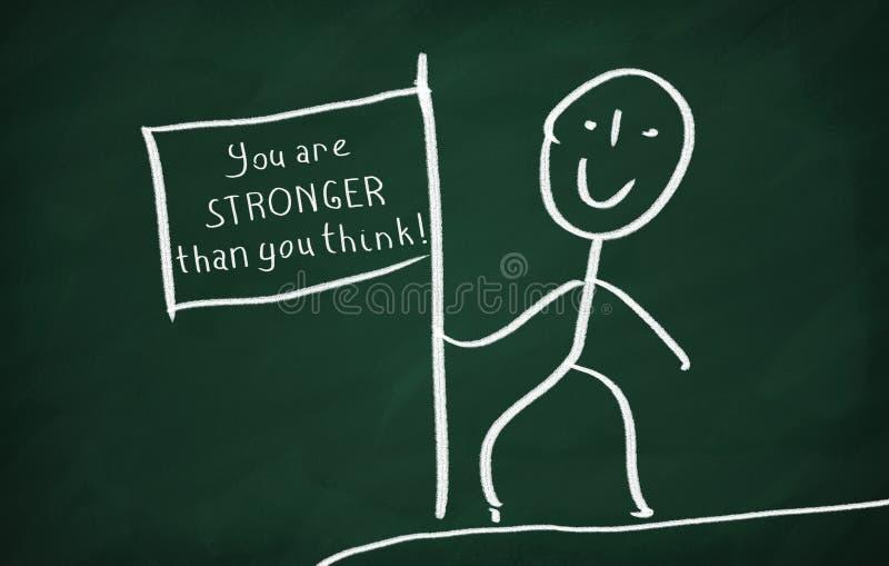 Vous êtes plus fort que vous pensez photos stock