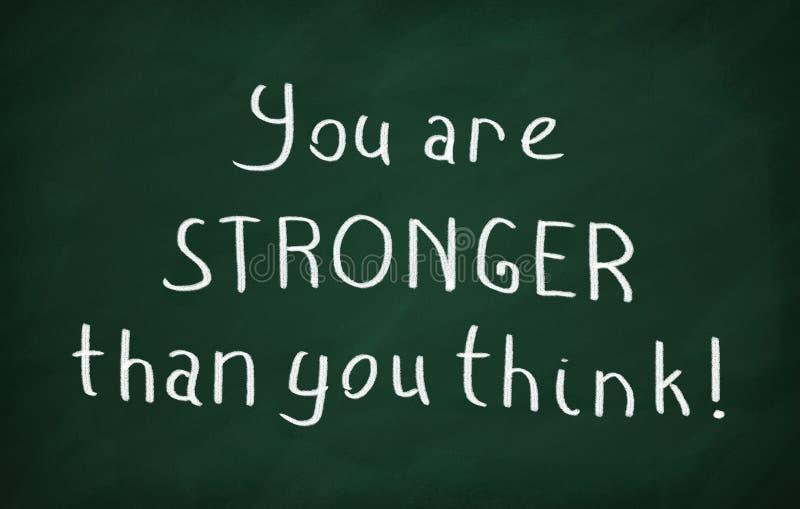 Vous êtes plus fort que vous pensez photo libre de droits