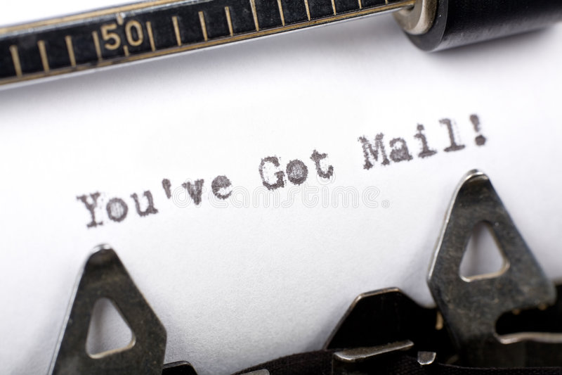 Vous avez le courrier photo stock