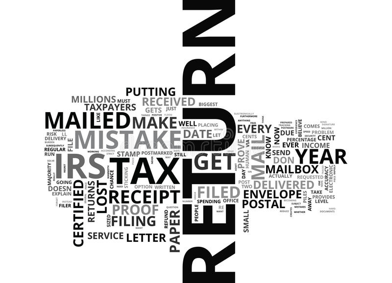 Vous ferez le cent confondre ce nuage de Word de saison d'impôts illustration de vecteur