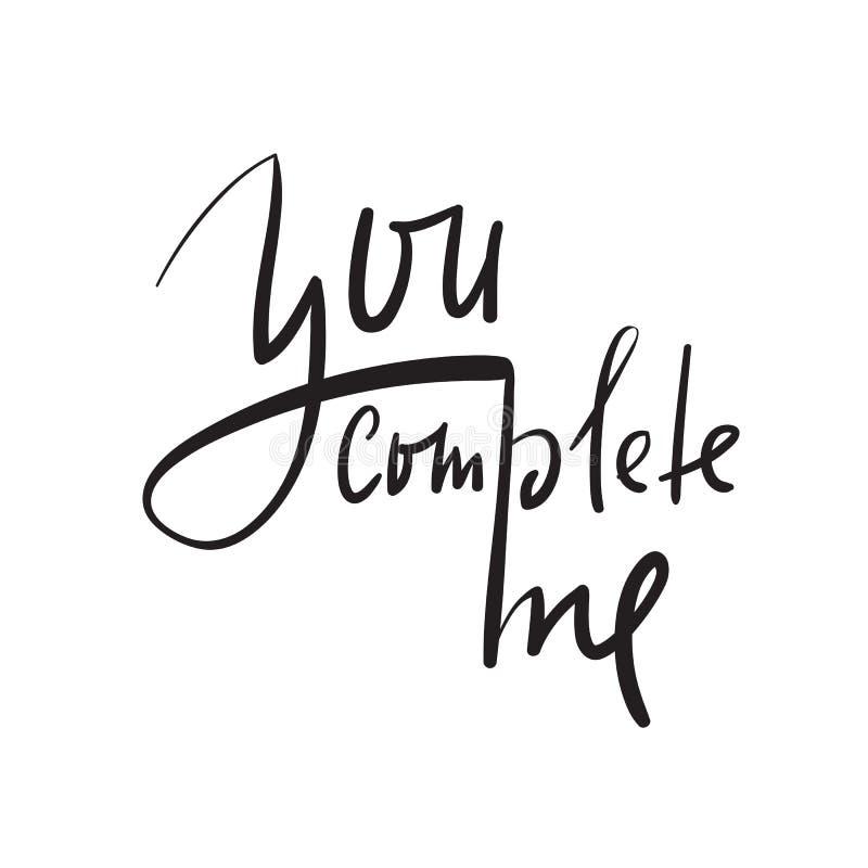 Vous m'accomplissez - simple inspirez et citation de motivation Beau lettrage tiré par la main Copie pour l'affiche inspirée, illustration libre de droits