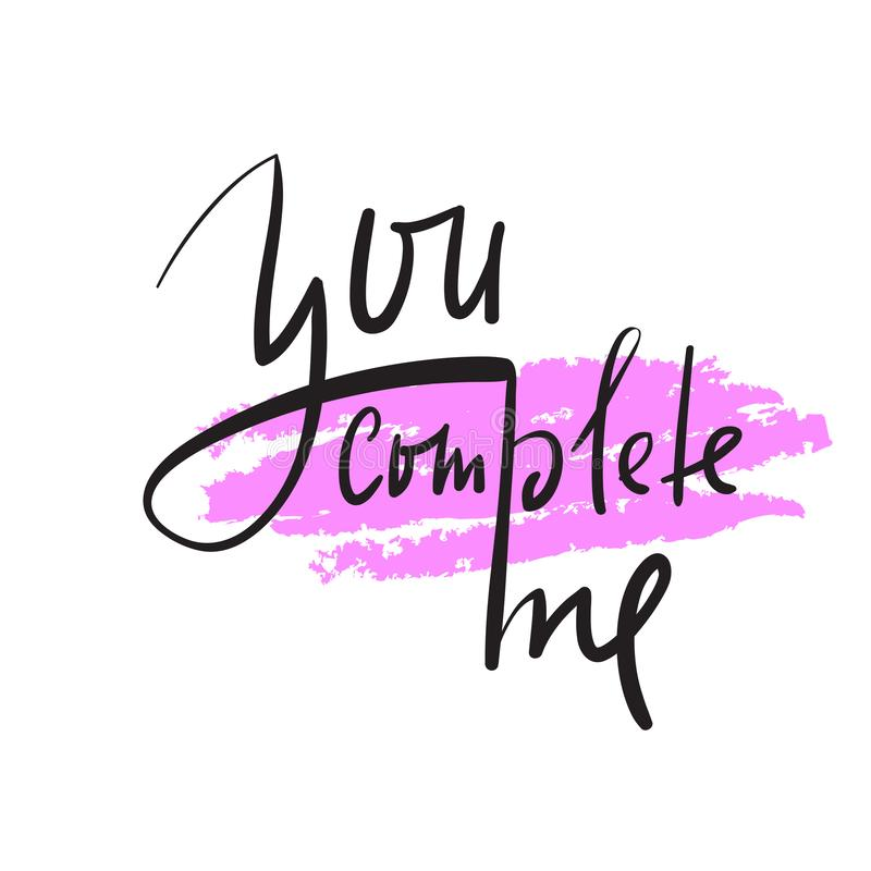 Vous m'accomplissez - simple inspirez et citation de motivation Beau lettrage tiré par la main Copie pour l'affiche inspirée, T-s illustration stock