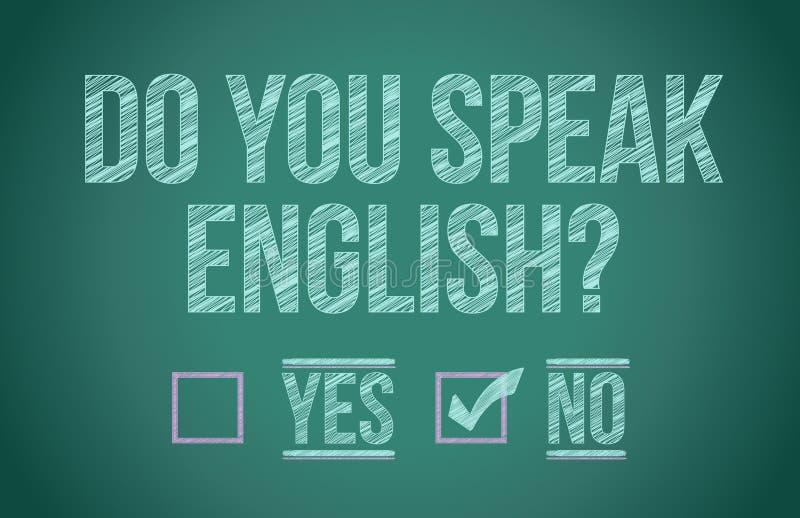 Vous parlez anglais illustration stock