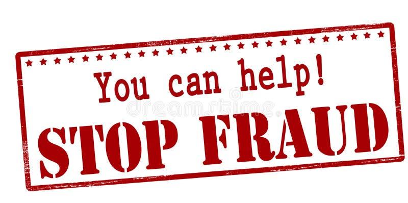Vous pouvez aider à arrêter la fraude illustration stock
