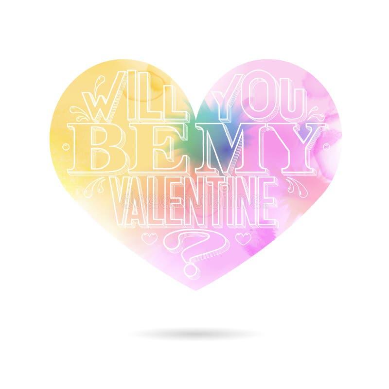 Vous serez ma carte de voeux de Valentine illustration de vecteur