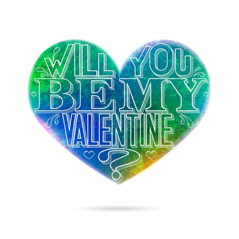 Vous serez ma carte de voeux de Valentine illustration libre de droits