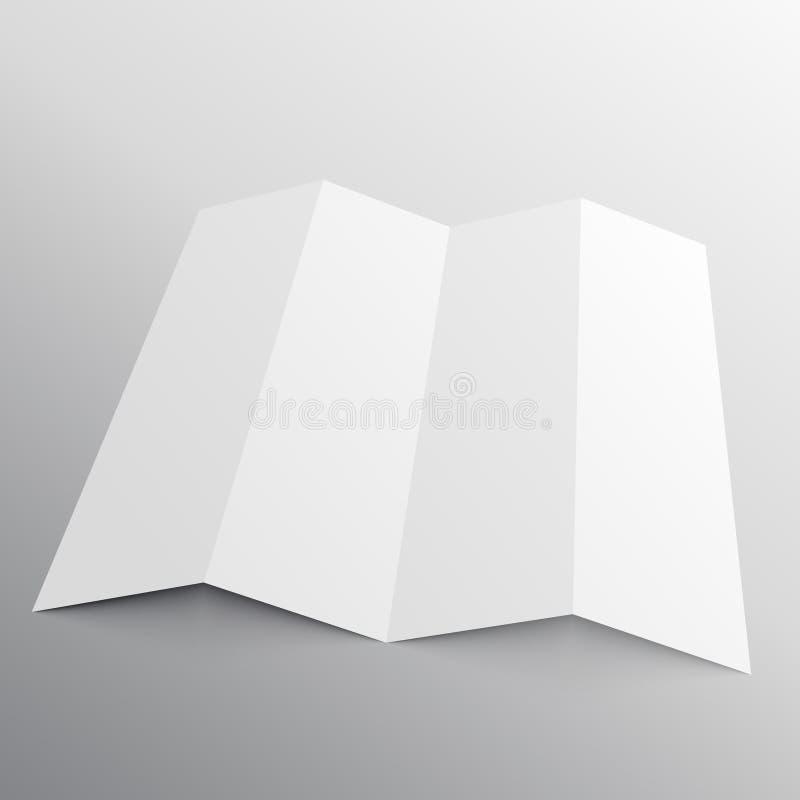 Vouwbaar brochuremodel in perspectief vector illustratie