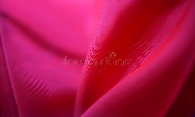 Vouwen van roze stof royalty-vrije stock foto's