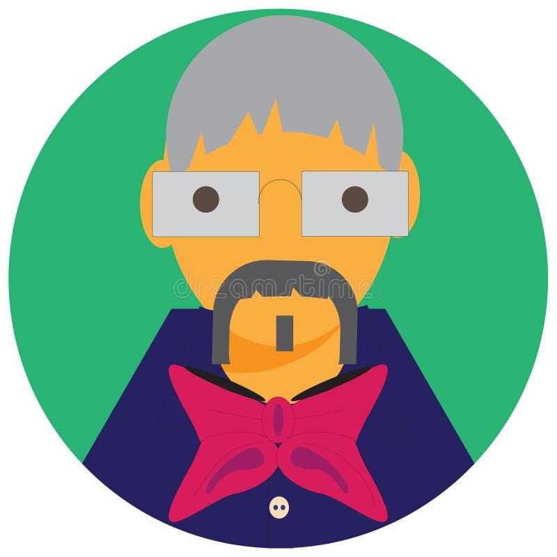 Vovô do homem do ícone ilustração do vetor
