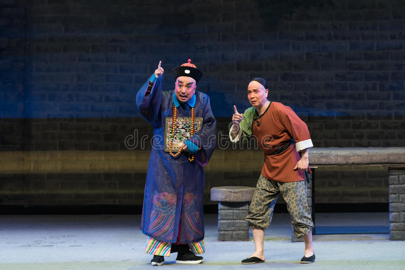 "Vowed that day-Shanxi Operatic""Fu Shan to Beijing"". Fu Shan Beijing reflects the Fu Shan in Beijing, to be a true story of the words learned macro royalty free stock images"