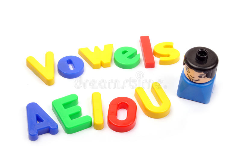 Vowels stock photo