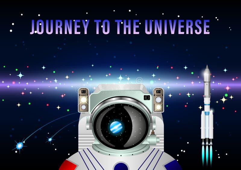 Voyage à l'univers illustration stock