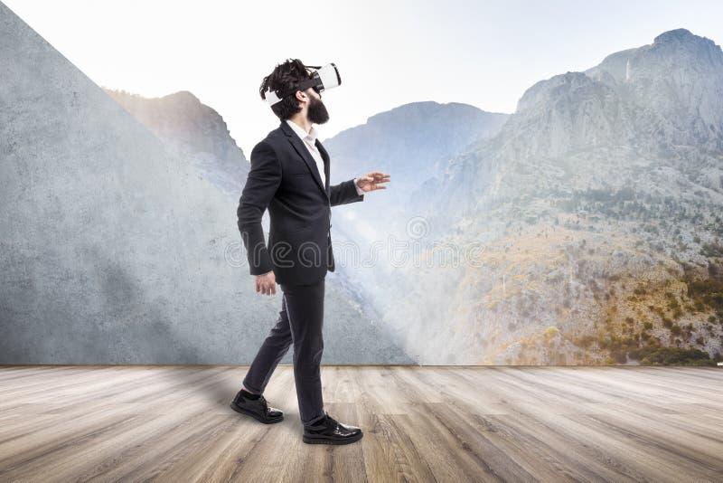 Voyage à la réalité virtuelle images libres de droits