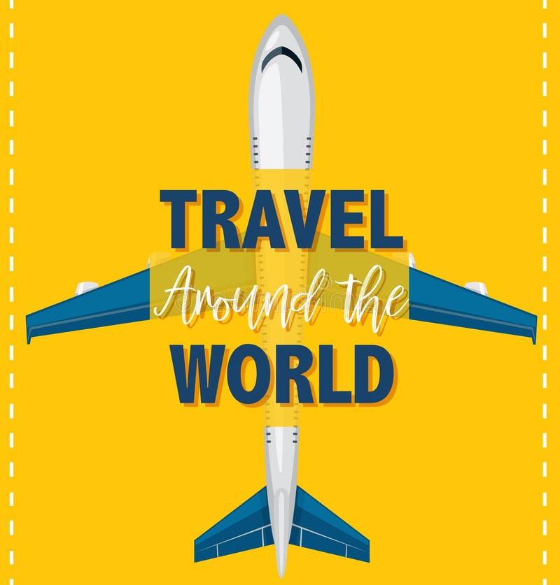 Voyage autour du calibre du monde illustration libre de droits