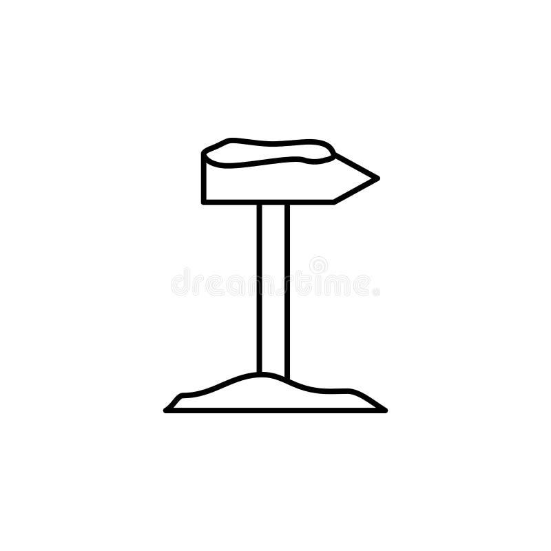 Voyage, bâton, icône d'ensemble de joint Élément d'illustration de voyage Des signes et l'icône de symboles peuvent être employés illustration de vecteur