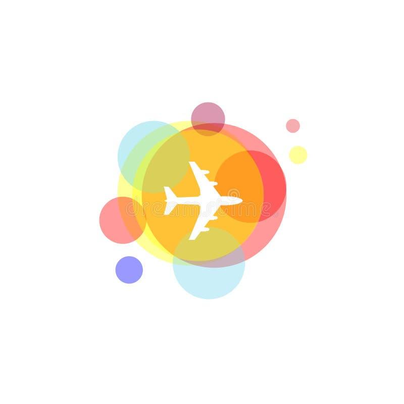 Voyage coloré Logo Inspiration illustration de vecteur